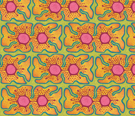 Double Flower fabric by claytown on Spoonflower - custom fabric