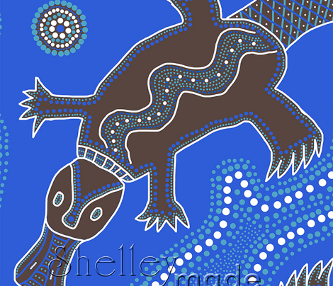 Dreamtime Platypus (Zoom in for detail)