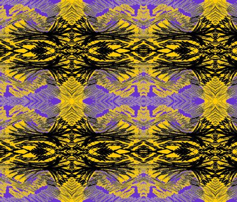 yellowandpurplefeathers fabric by sewbiznes on Spoonflower - custom fabric