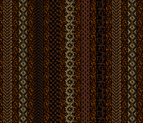 african stripes earthen fabric by glimmericks on Spoonflower - custom fabric