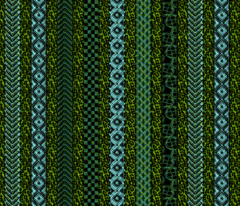 african stripes ocean fabric by glimmericks on Spoonflower - custom fabric