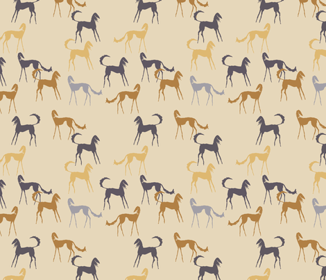 Saluki beige fabric by lobitos on Spoonflower - custom fabric
