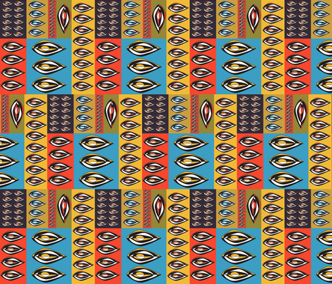 Tribal Shield fabric by designedtoat on Spoonflower - custom fabric