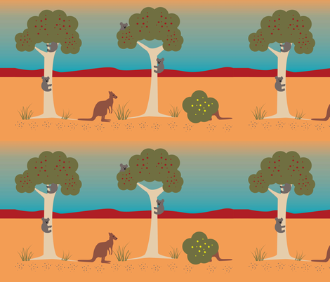 aussie_outback fabric by treechanger on Spoonflower - custom fabric
