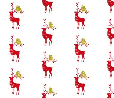 deer_fabric fabric by mybohohome on Spoonflower - custom fabric