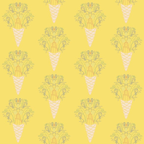 Fairground Print Yellow