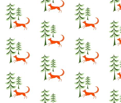 fox_fabric fabric by mybohohome on Spoonflower - custom fabric