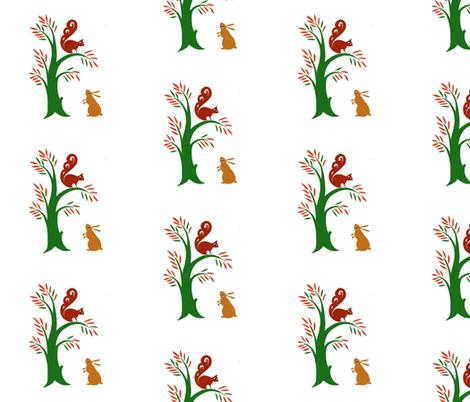 rabbit_fabric fabric by mybohohome on Spoonflower - custom fabric
