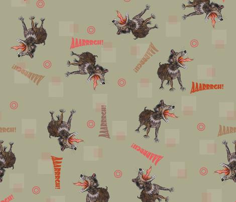 Tasmanian Devils on dark background fabric by susiprint on Spoonflower - custom fabric