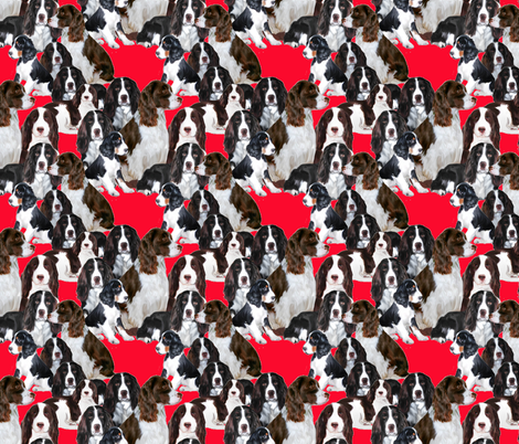 Springer Spaniel Mural fabric fabric by dogdaze_ on Spoonflower - custom fabric