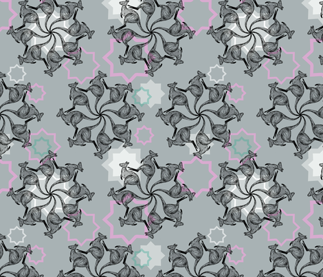 Star Wallabies fabric by amy-michelle on Spoonflower - custom fabric