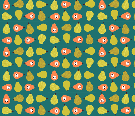 Happy_Pears_2 fabric by kimnb on Spoonflower - custom fabric
