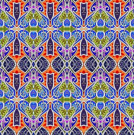 Mediterranean Revival Seventies Style fabric by edsel2084 on Spoonflower - custom fabric