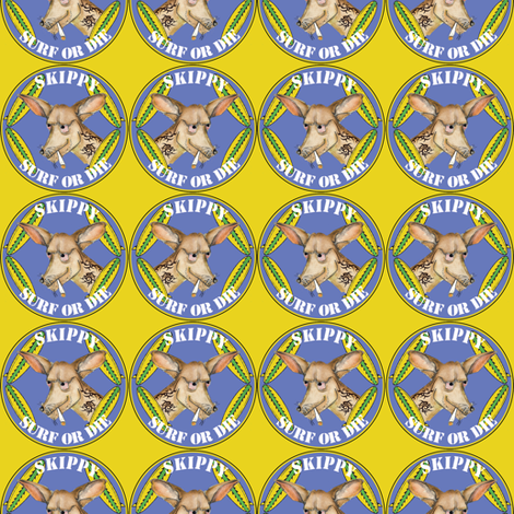 Skippy Surf or Die fabric by susiprint on Spoonflower - custom fabric