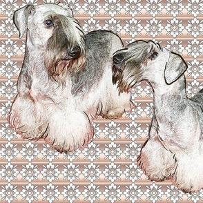 Cesky Terrier Fabric