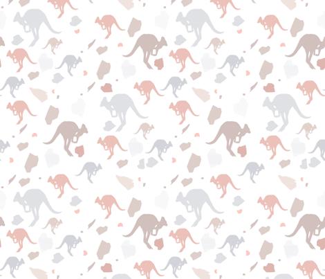 pastel kangaroos fabric by bricksandcolors on Spoonflower - custom fabric