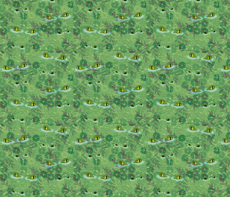 Crikey - what a splendid mess of crocs! fabric by glimmericks on Spoonflower - custom fabric