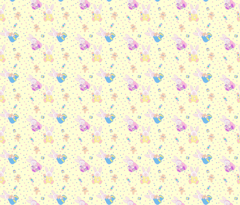 baby_bunny__yellow fabric by patti_ on Spoonflower - custom fabric