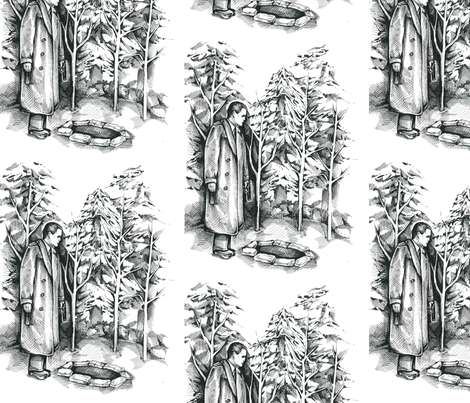 blacklodge fabric by thunderpumpkin on Spoonflower - custom fabric