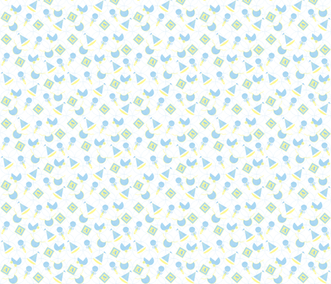 baby_blue_on_white fabric by patti_ on Spoonflower - custom fabric