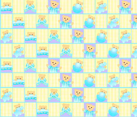 peek_a_boo_bear_baby fabric by patti_ on Spoonflower - custom fabric