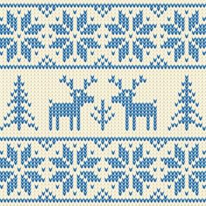 Winter Deer in Snowflakes