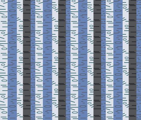 Silver Birch - Cool fabric by giddystuff on Spoonflower - custom fabric