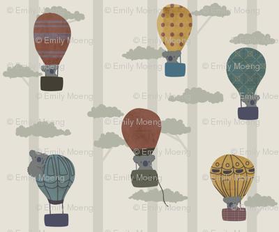 Koalas in hot air balloons
