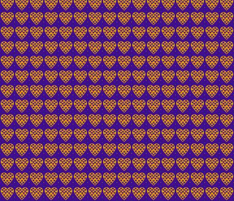 Coeur papillons fabric by manureva on Spoonflower - custom fabric