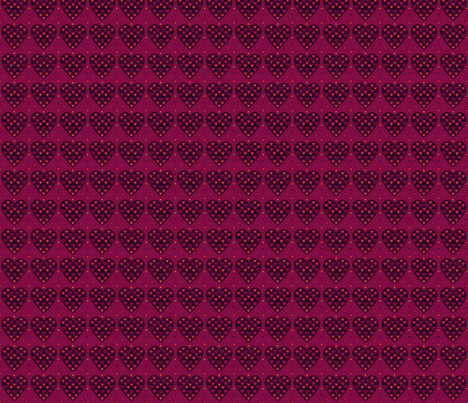 Coeur multicolore fabric by manureva on Spoonflower - custom fabric