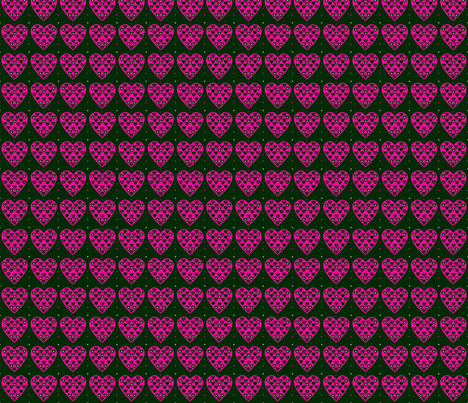 Coeur tressé fabric by manureva on Spoonflower - custom fabric