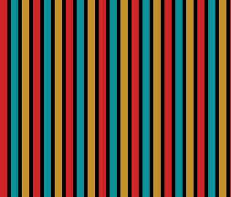 Star Trek TOS Stripe Coordinate fabric by meglish on Spoonflower - custom fabric