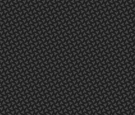 Klingon - Grey, Small fabric by meglish on Spoonflower - custom fabric