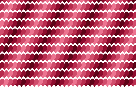 Ombre Paper Hearts fabric by shelleymade on Spoonflower - custom fabric