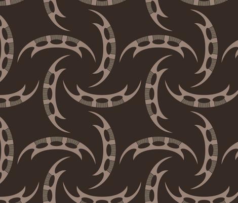 Klingon Bat'leth - Brown, Large fabric by meglish on Spoonflower - custom fabric