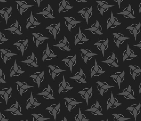Klingon - Grey, Large fabric by meglish on Spoonflower - custom fabric