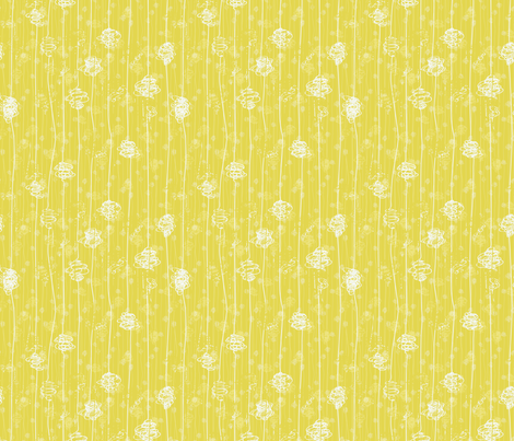 Butterfly Cocoons - yellow fabric by majobv on Spoonflower - custom fabric