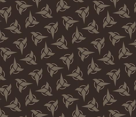 Klingon - Brown, Large fabric by meglish on Spoonflower - custom fabric