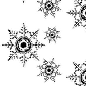 Snowflakes B&W