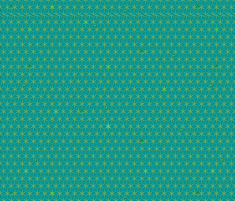 star_grid_turquoise fabric by glimmericks on Spoonflower - custom fabric