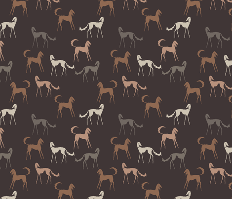 salukis brown fabric by lobitos on Spoonflower - custom fabric