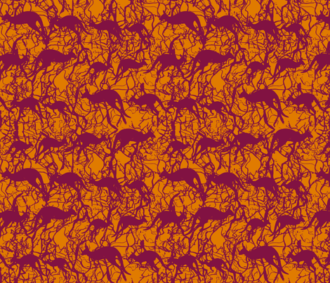 Red Earth Roos fabric by wednesdaysgirl on Spoonflower - custom fabric