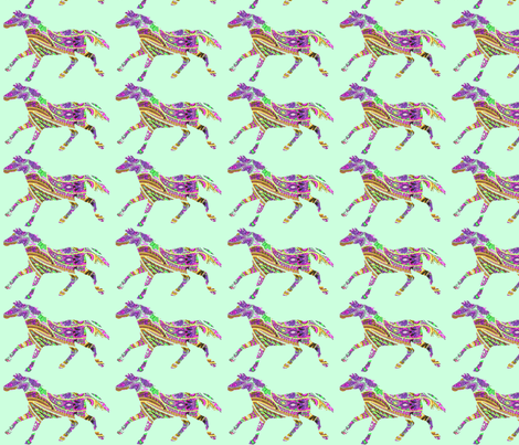 Horse Shadow Paisley fabric by ragan on Spoonflower - custom fabric