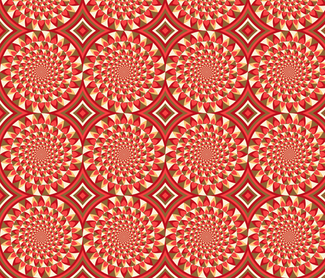 Spinning Hearts fabric by siya on Spoonflower - custom fabric