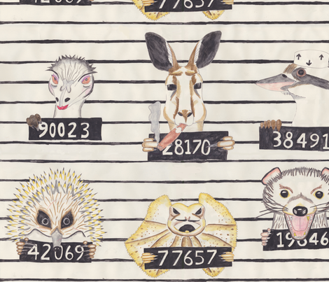 Australian Convicts fabric by raccoonhedgehog on Spoonflower - custom fabric