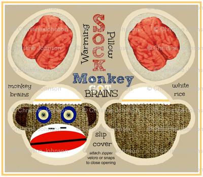 GOT BRAINS! Sock Monkey / Monty