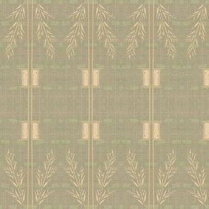 Deco wheat stripe - subtle shades of grey, pale green and pink
