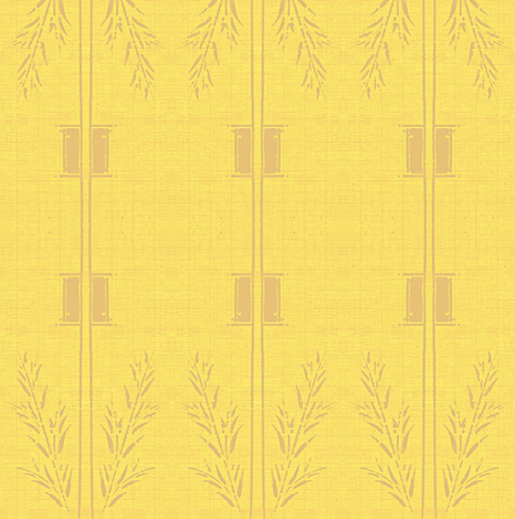 Deco Wheat Stripe - mellow yellow and taupe fabric by materialsgirl on Spoonflower - custom fabric