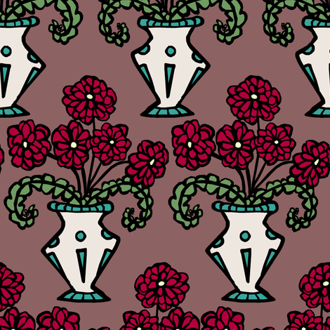 Vase fabric by pond_ripple on Spoonflower - custom fabric