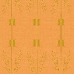 Deco wheat stripe -  orange and green